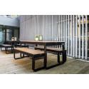Location banc dinner bois pour réception - Loca Réception