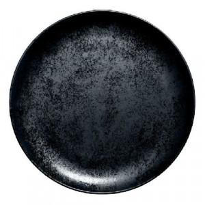 location assiette ronde noire dark pour vaisselle de réception