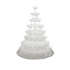 location fontaine champagne pour vaisselle de réception