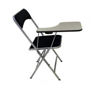 Chaise velours luxe noire et tablette conférence
