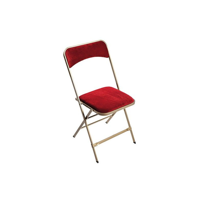 Chaise velours luxe rouge loca reception - Chaise velours rouge ...