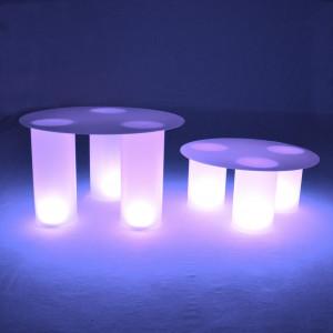 Ensemble 6 colonnes lumineuses led