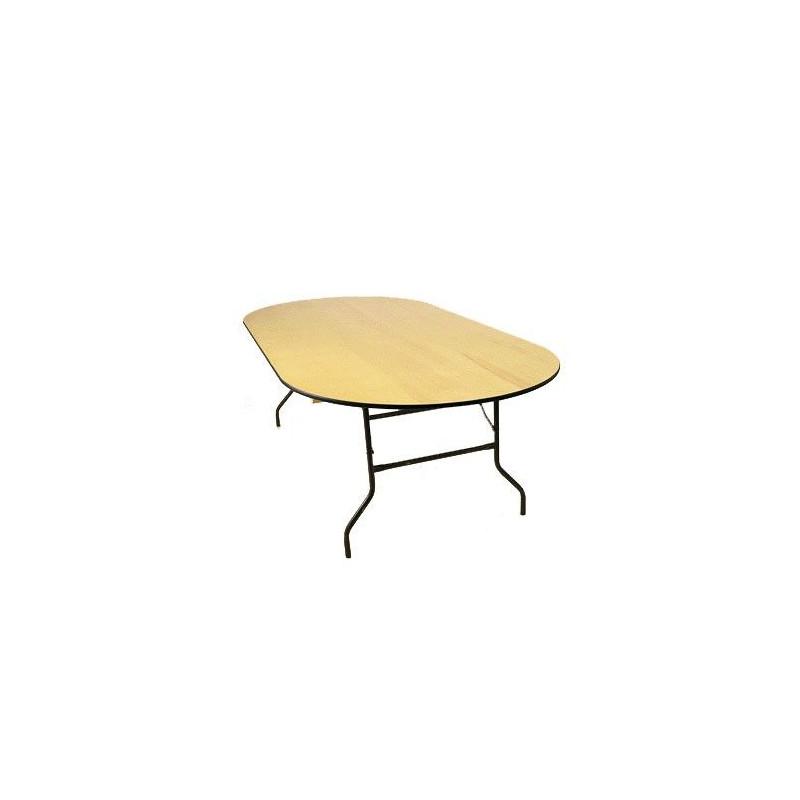 table ovale 250 x 120 cm loca reception. Black Bedroom Furniture Sets. Home Design Ideas