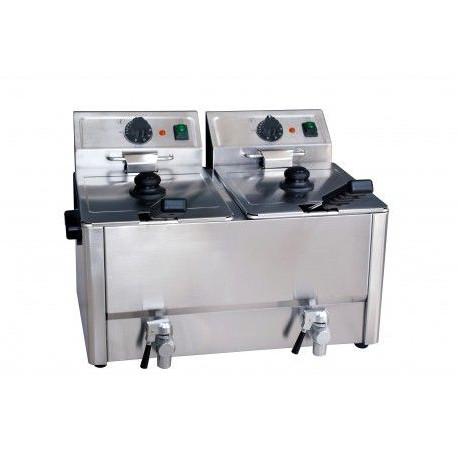 Friteuse double électrique 2 x 8 L