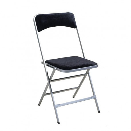 Chaise velours luxe noire