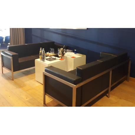 Canapé lounge noire 3pers